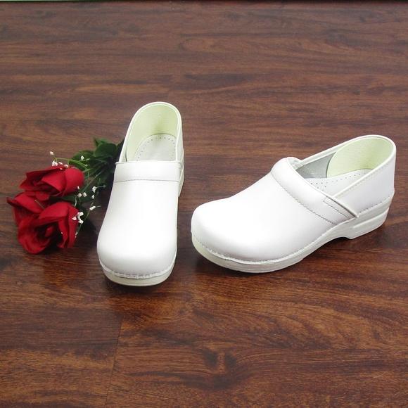 Nursing Clogs Leather Shoes Size
